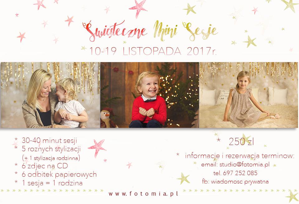mini sesje swiateczne 2017,  www.fotomia.pl, studio Fotomia.pl
